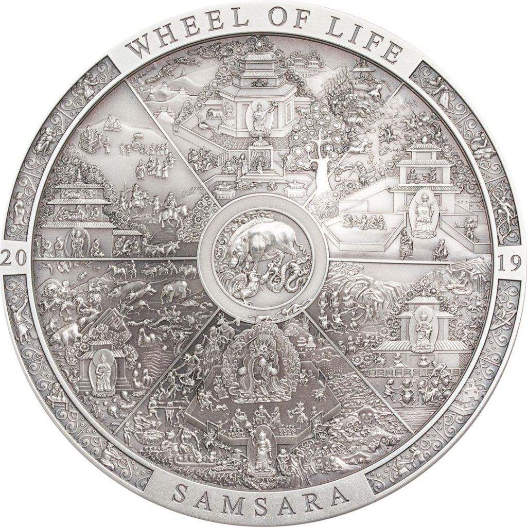 Cook Islands 2019 20 Dollars Samsara Wheel of Life Silver Coin