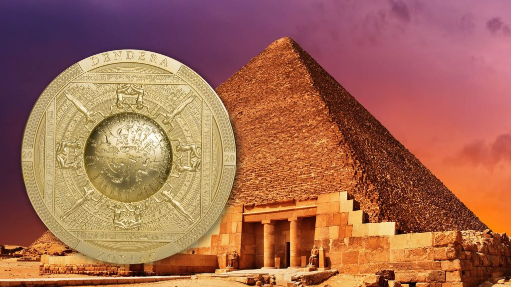 Cook Islands 2020 20 Dollars Dendera Zodiac Egypt Golden Coin