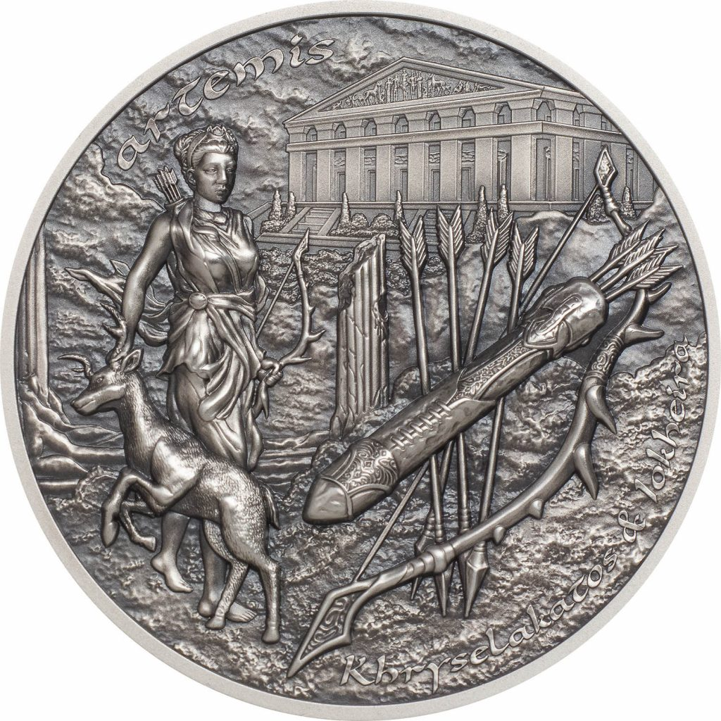 Cook Islands 2020 10 Dollars Bow Arrow Artemis Silver Coin