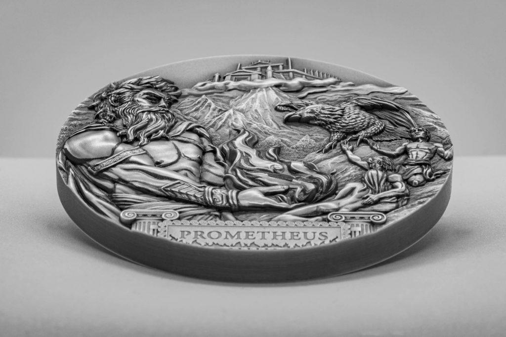 Cook Islands 2020 20 Dollars Titan Prometheus Silver Coin
