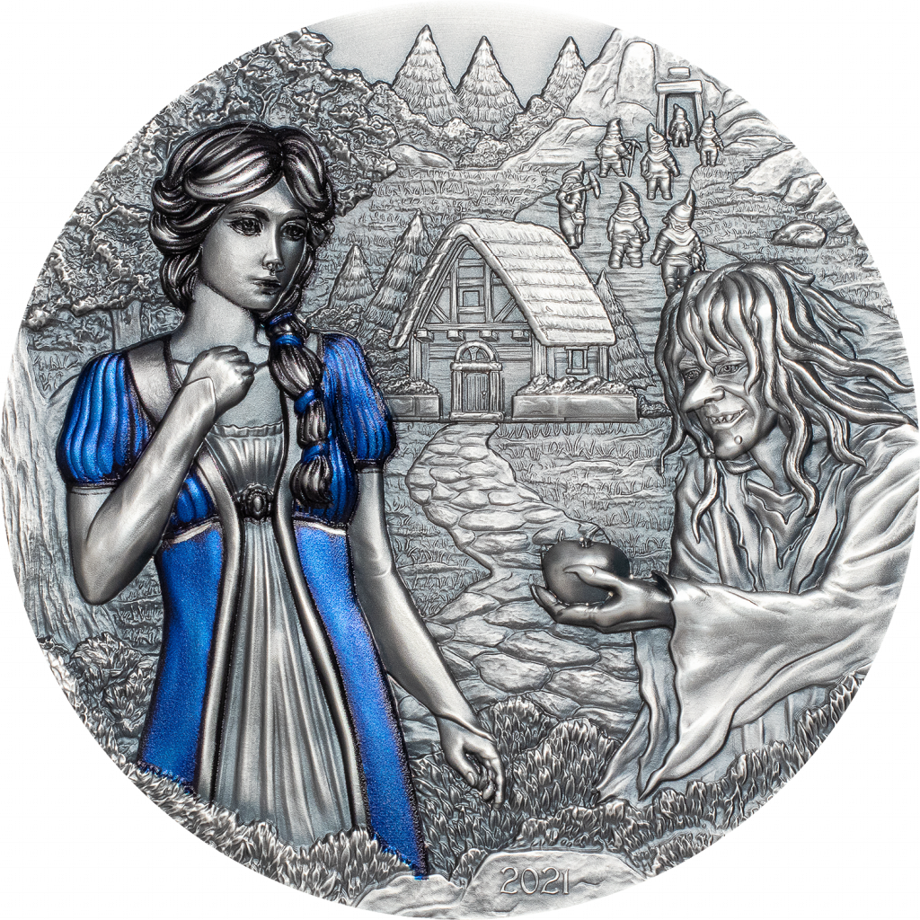 Cook Islands 2021 20 Dollars Snow White Fairy Tales Series Silver Coin