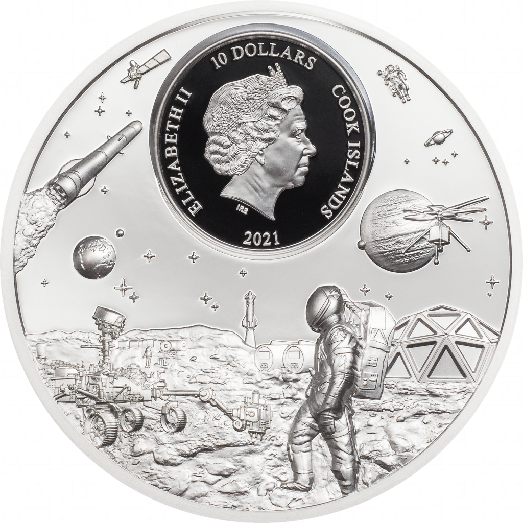 Cook Islands 2021 10 Dollars Voyagers Thirst for Discovery Time Flies Series Silver Coin
