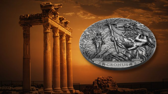 Cook Islands 2021 20 Dollars Cronus Titan Series Silver Coin