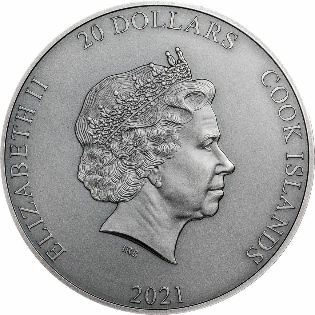 Cook Islands 2021 20 Dollars Cronus Titan Series Silver Coin