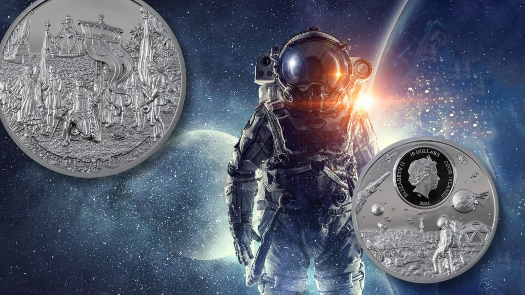 Palau 2021 10 Dollars Voyagers Thirst for Discovery Black Proof - Time Flies series silver proof coin