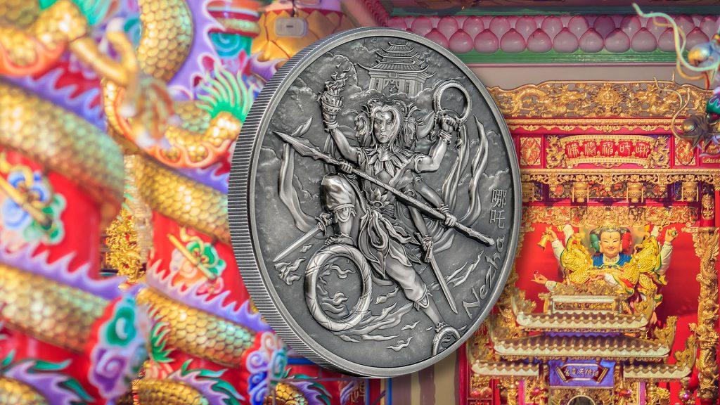 Cook Islands 2021 10 Dollars Nezha & Nine Weapons Mythology Series silver coin