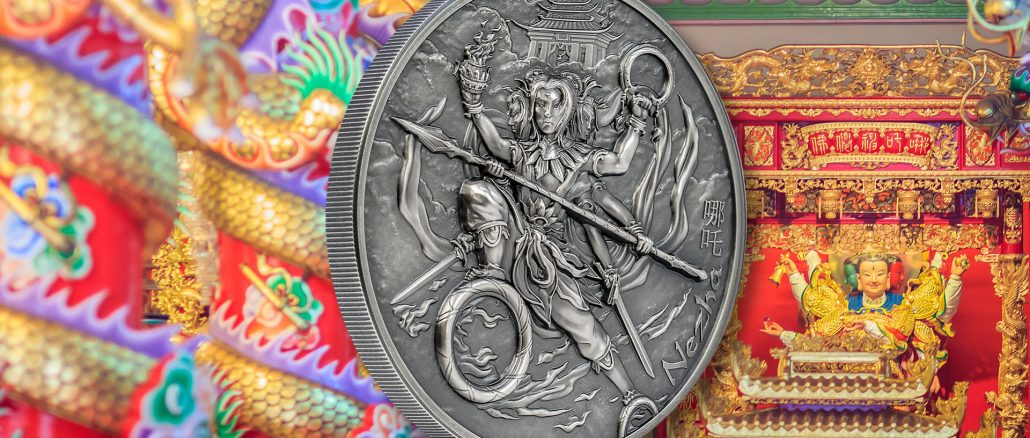 Cook Islands 2021 10 Dollars Nezha & Nine Weapons Mythology Series silver coin
