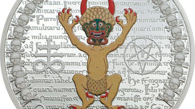 Equatorial Guinea Codex Gigas Devil bible Silver Coin