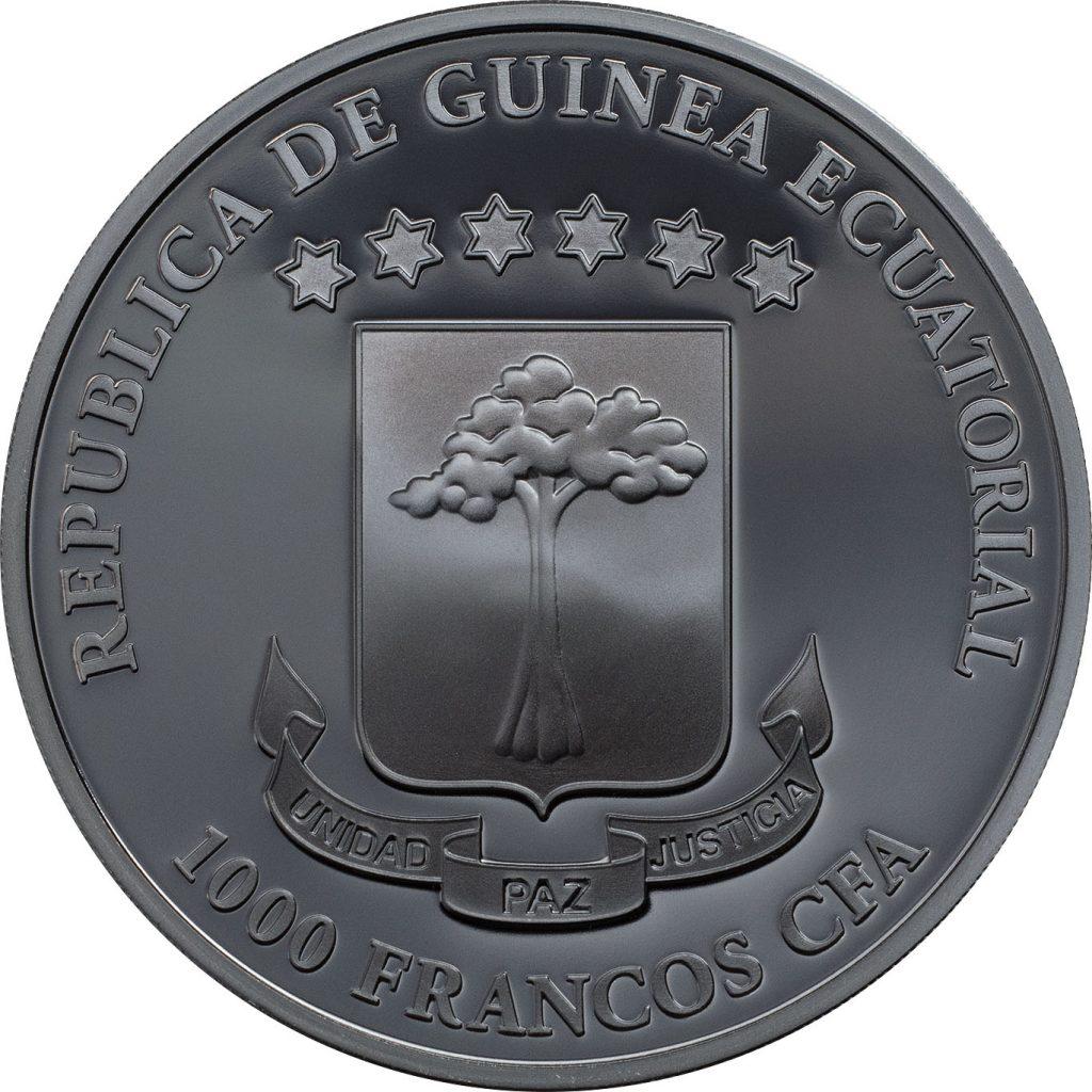 Equatorial Guinea 2018 1000 Francs Grim Reaper The Death Silver Coin