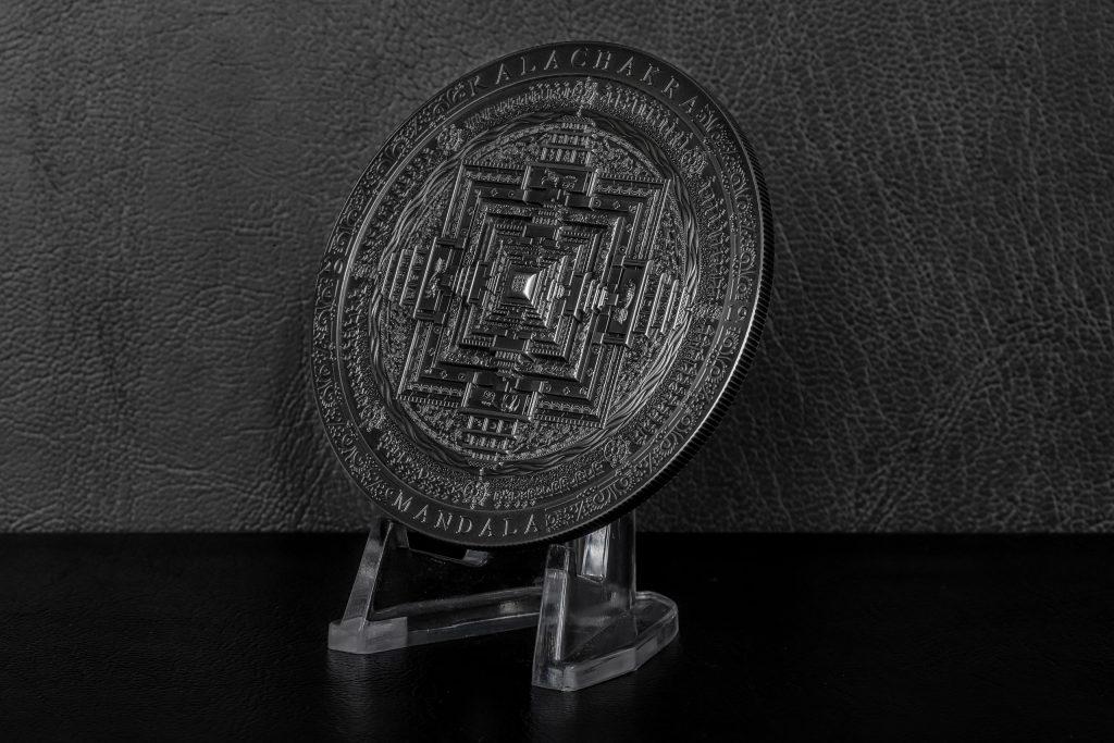 mongolia 2019 2000 Togrog Kalachakra Mandala Silver Coin