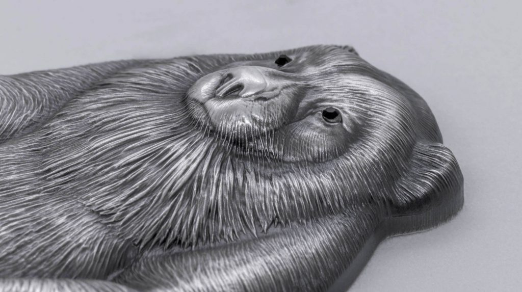 Mongolia 2020 1000 Togrog Gulo Gulo Wolverine Silver Coin