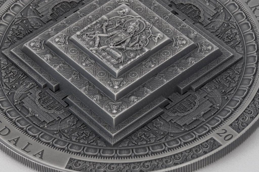 Mongolia 2020 2000 Togrog Vasudhara Mandala - Archeology & Symbolism Series Silver Coin