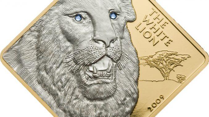 Malawi 2009 500 Kwacha White Lion Au Gold Coin