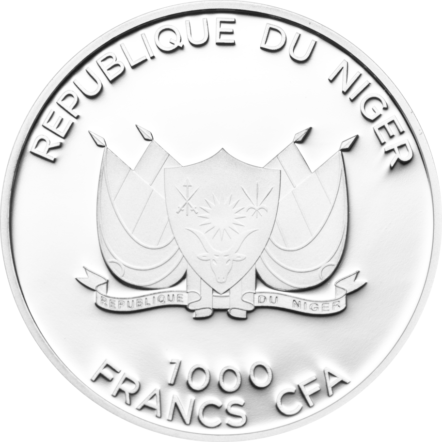 Niger 2013 1000 Francs Canis Latrans Coyote Silver Coin