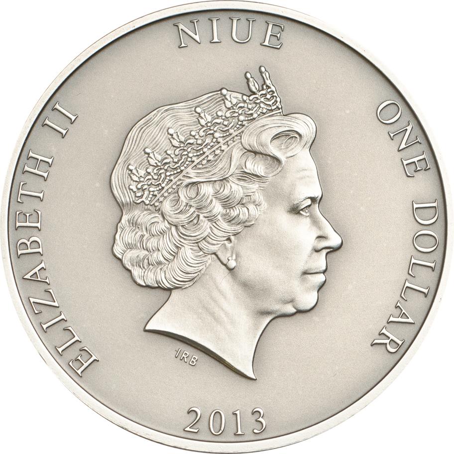 Niue 2013 1 Dollar Mary Celeste Silver Coin
