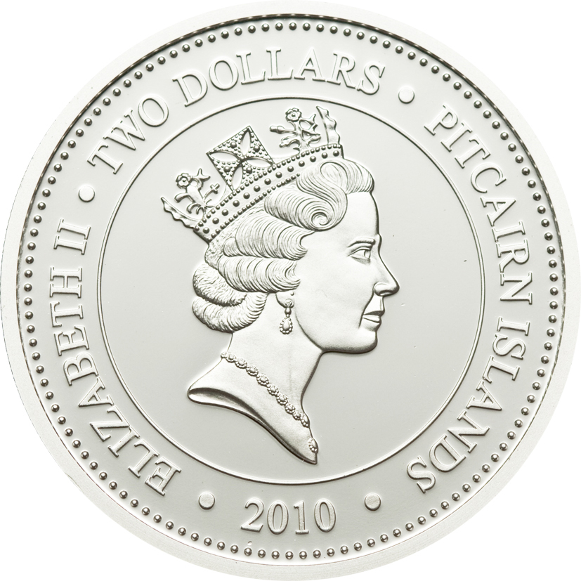 Pitcairn Islands 2010 2 Dollars Melanocetus Jognsonii Silver Coin