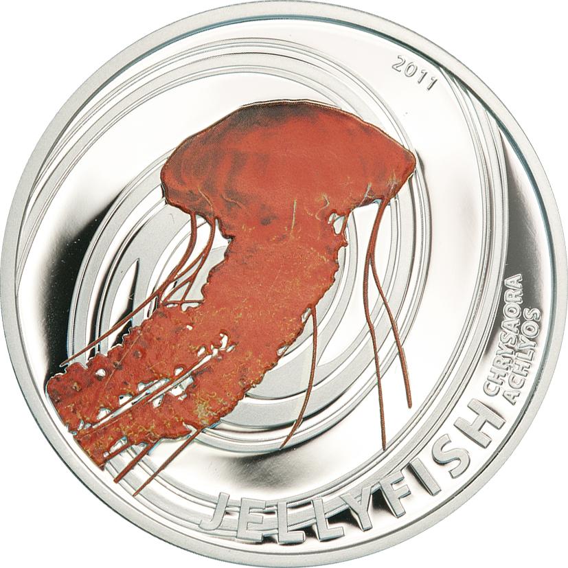 Pitcairn Islands 2011 2 Dollars Chrysaora Achlyos Silver Coin