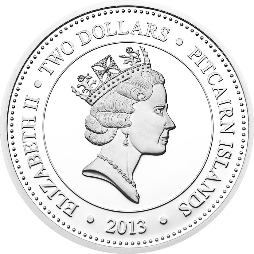 Pitcairn Islands 2013 2 Dollars Eurypharynx Pelecanoides Silver Coin