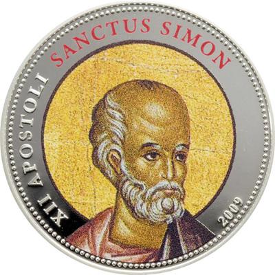 Palau 2009 12 x 1 Dollar 12 Apostles Silver Coin