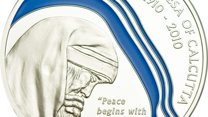Palau 2010 2 Dollars 100th anniversary of Mother Teresa Silver Coin