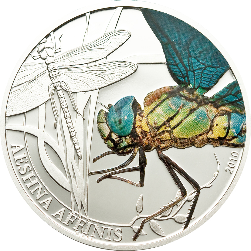 Palau 2010 2 Dollars Dragonfly Silver Coin