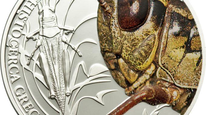 Palau 2010 2 Dollars Grasshopper Silver Coin