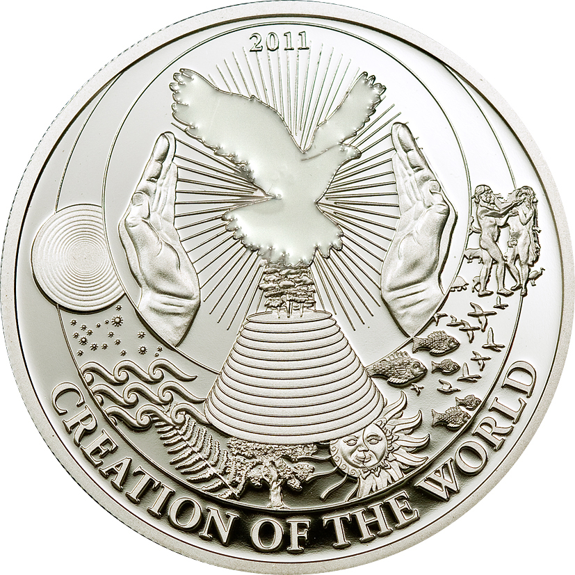 Palau 2011 2 Dollars Creation of the World Silver Coin