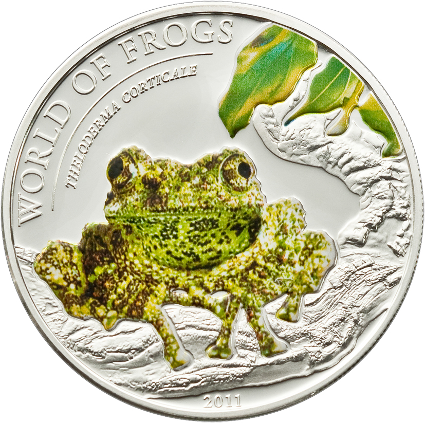 Palau 2011 2 Dollars Theloderma Corticale Silver Coin