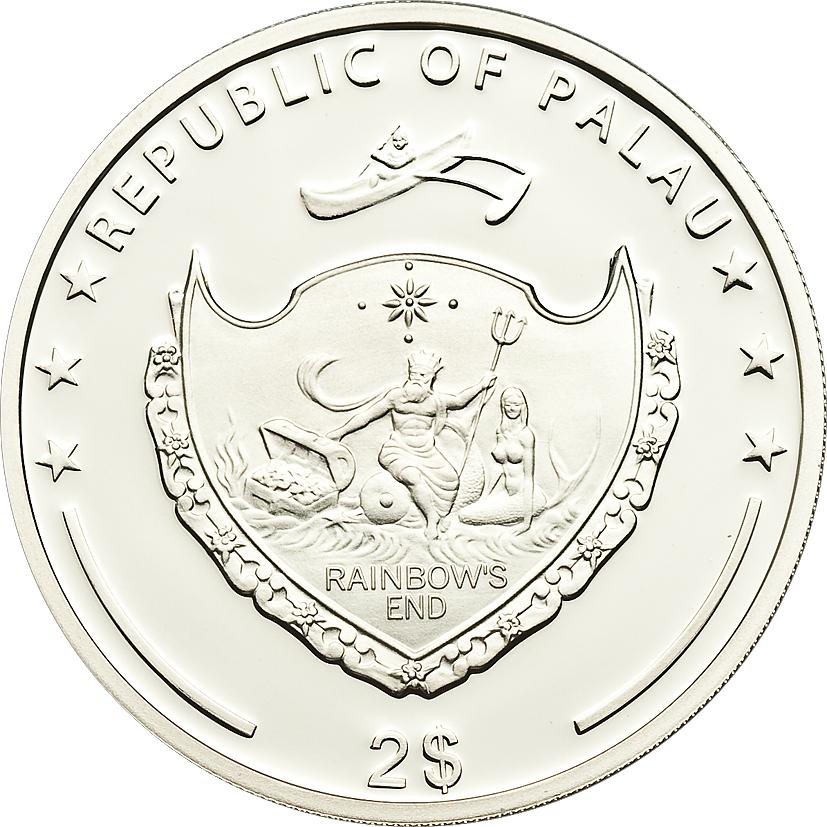Palau 2011 2 Dollars Bombus Silver Coin