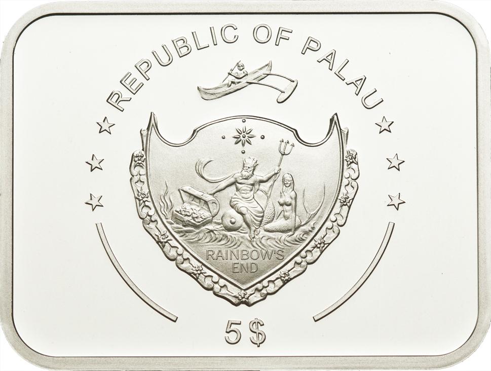 Palau 2011 5 Dollars Carmen Silver Coin