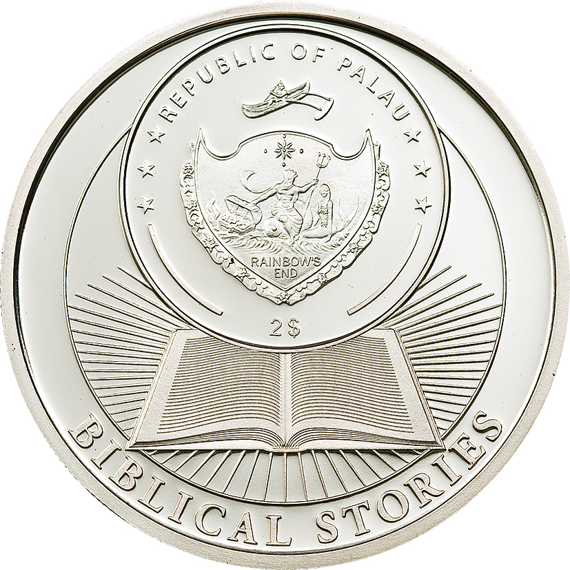 Palau 2011 2 Dollars Cain Abel Silver Coin