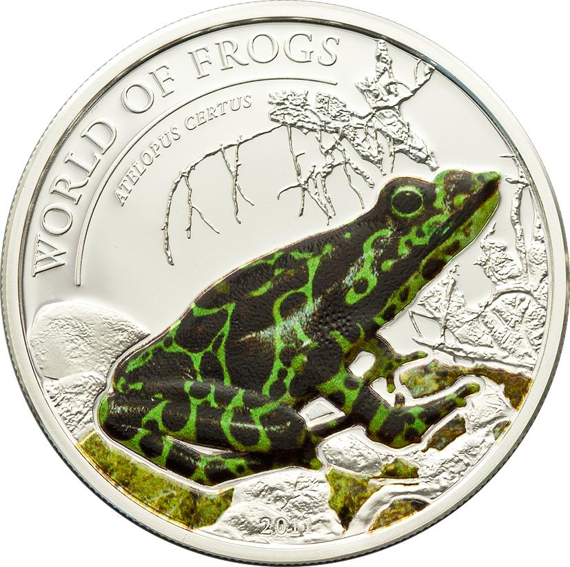 Palau 2011 2 Dollars Atelopus Certus Silver Coin