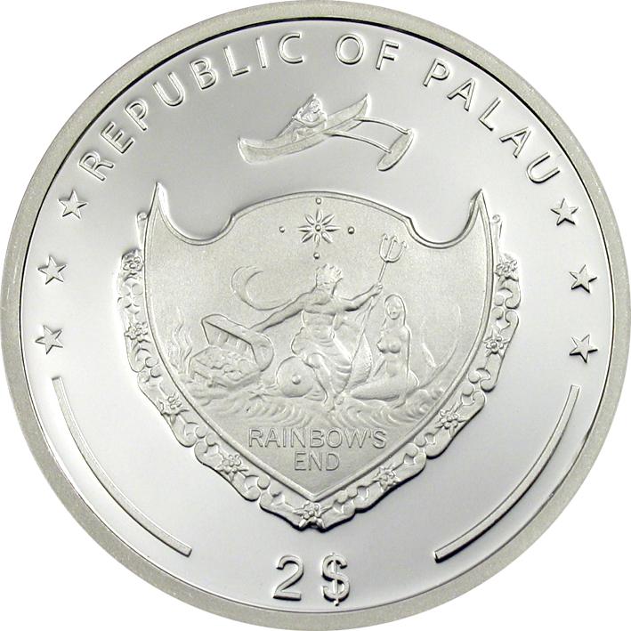 Palau 2011 2 Dollars Walking Leaf Silver Coin