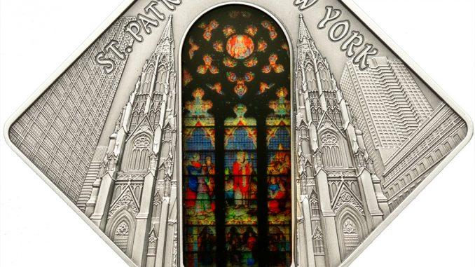 Palau 2011 10 Dollars St Patrick Cathedral New York