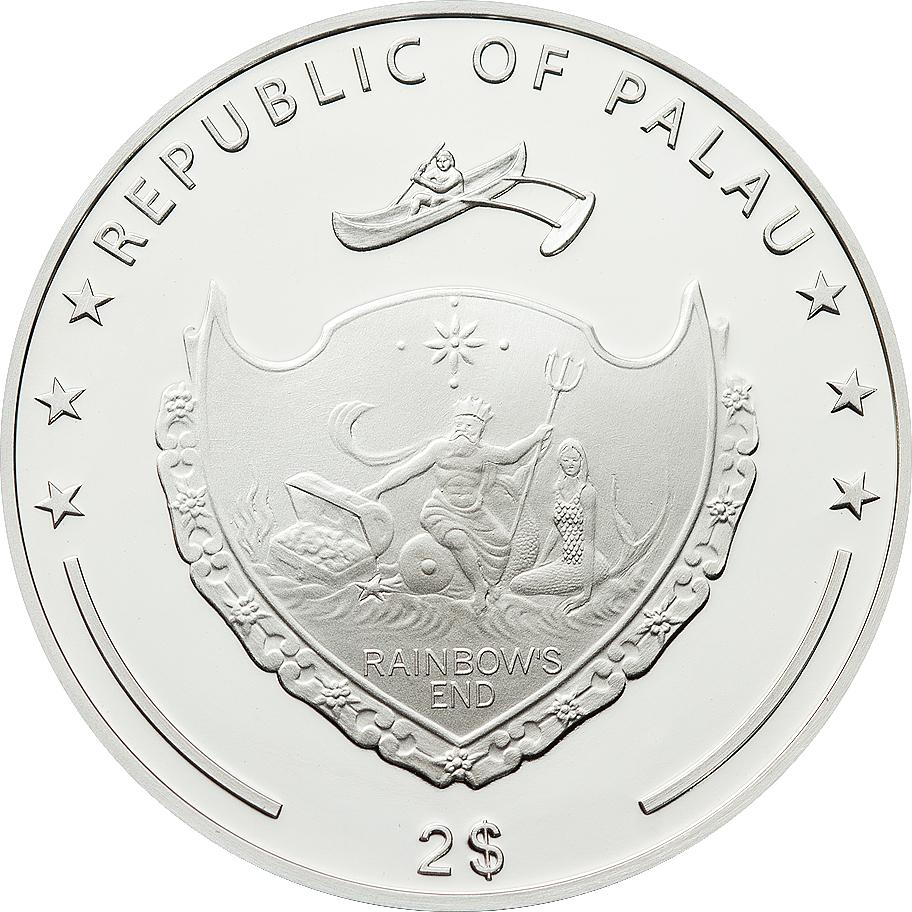 Palau 2012 2 Dollars Jasna Gora Monastry Silver Coin
