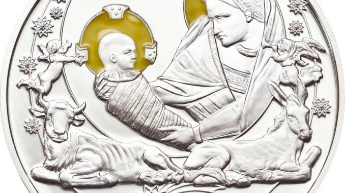 Palau 2012 2 Dollars Birth of Jesus Silver Coin