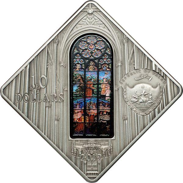Palau 2012 10 Dollars Votive Church Vienna Silver Coin