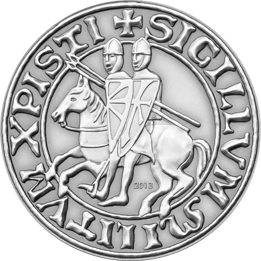 Palau 2013 1 Dollar Templars Silver Coin