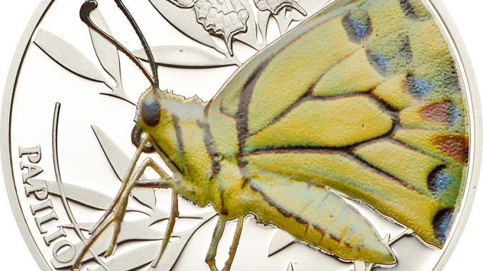 Palau 2013 2 Dollars Butterfly Silver Coin