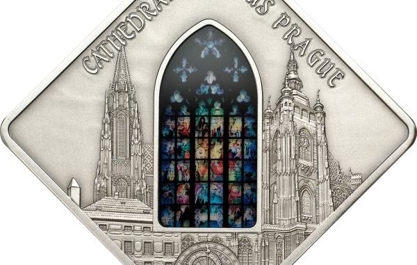 Palau 2013 10 Dollars St Vitus Prague Silver Coin
