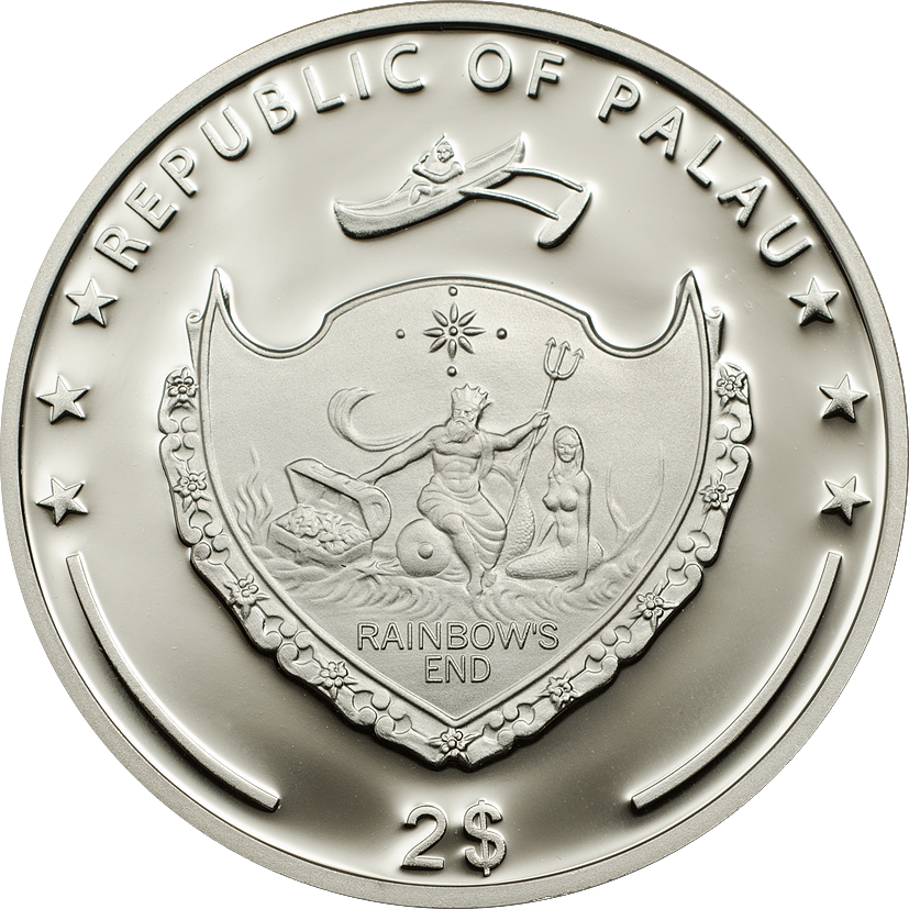Palau 2014 2 Dollars Golden Frog Silver Coin