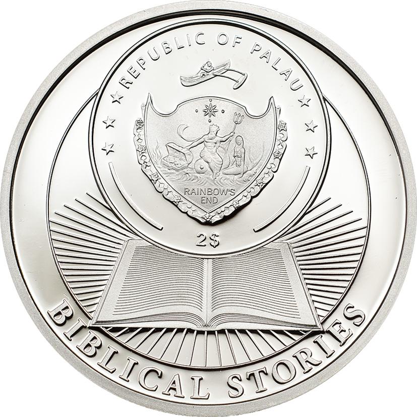Palau 2014 2 Dollars Resurrection of Jesus Silver Coin