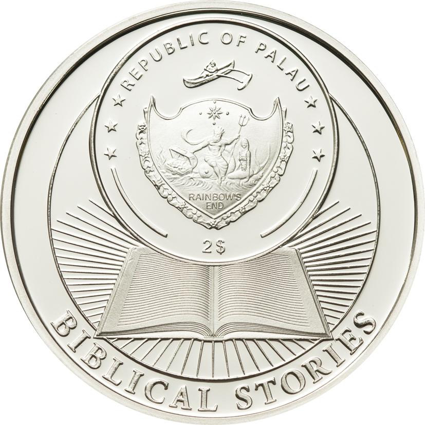 Palau 2014 2 Dollars 3rd Commandment Silver Coin
