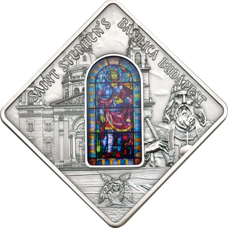 Palau 2014 10 Dollars St Stephen Basilica Budapest Silver Coin