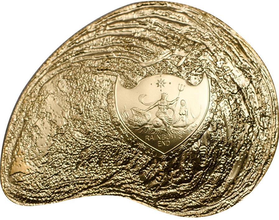Palau 2014 5 Dollars Hyriopsis Cumingii Gold Coin