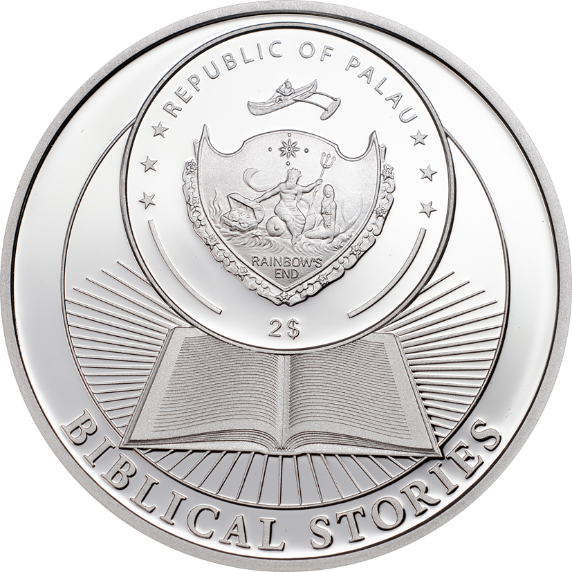 Palau 2016 2 Dollars Crucifiction of Jesus Silver Coin