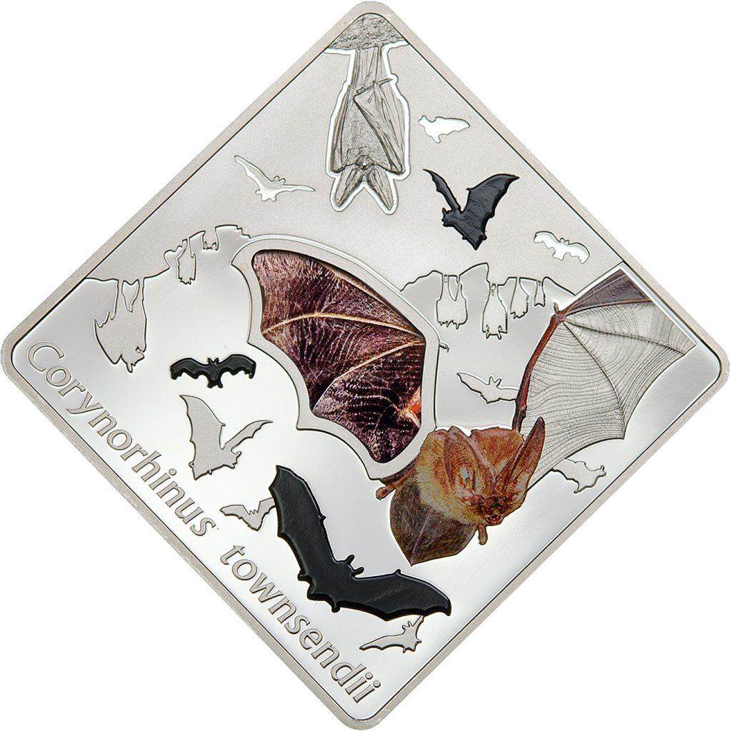 Palau 2016 10 Dollars The Bat Silver Coin