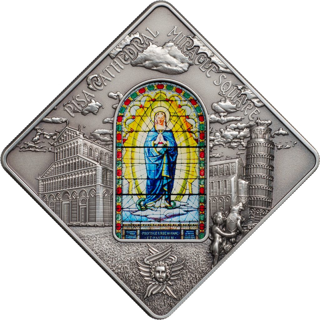 Palau 2016 10 Dollars Pisa Cathedral Silver Coin