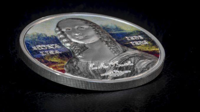 Palau 2017 5 Dollars Mona Lisa Revived Silver Coin