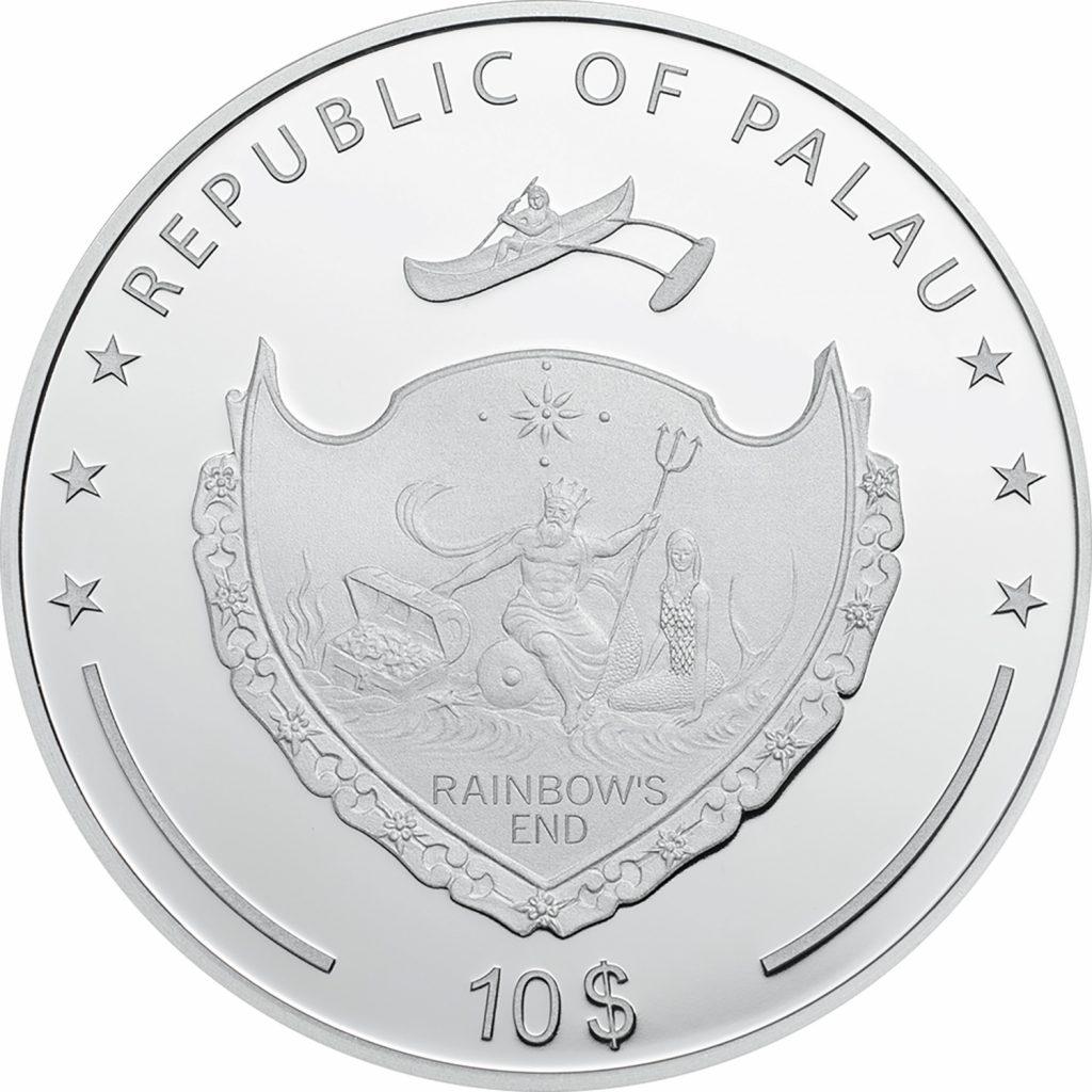 Palau 2017 10 Dollars Pinkrose High Relief Silver Coin